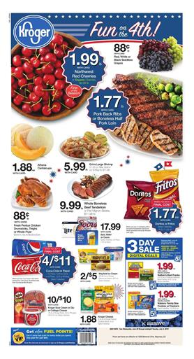 Kroger Weekly Ad Deals 4th of July Foods 2019
