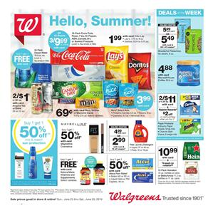 Walgreens Weekly Ad Grocery Sale Jun 23 29 2019