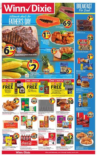 Winn Dixie Weekly Ad Fathers Day Food Sale Jun 12 18 2019
