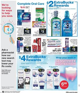CVS Weekly Ad Crest toothpaste or rinses ExtraBucks Reward and Mfrs Coupon