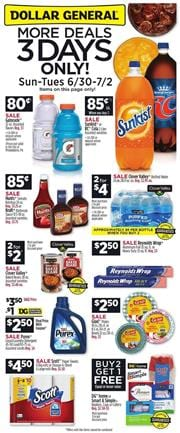 Dollar General Ad 3 Days Only Sale