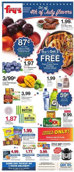 Frys Weekly Ad 4th of July Savings 2019