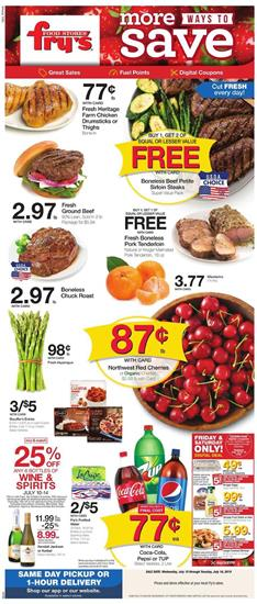 Fry's Weekly Ad Summer Sale Jul 10 - 16, 2019