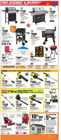 Home Depot Weekly Ad Grill Deals Jun 27 Jul 5 2019
