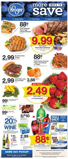 Kroger Weekly Ad Mix and Match Sale Jul 10 16 2019