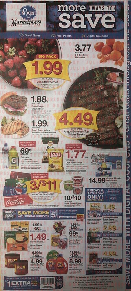 Kroger Weekly Ad Preview Jul 24 30 2019