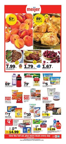 Meijer Weekly Ad BOGO Grocery Sale Jul 7 13 2019