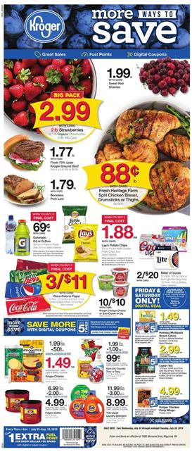 Save With Digital Coupons From Kroger Weekly Ad Jul 24 30 2019