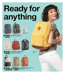 Target Backpacks Back to School Sale Weekly Ad Jul 28 2019