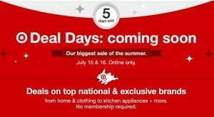 Target Deal Days Jul 15 16 2019 Early Access