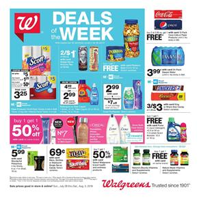 Walgreens Weekly Ad Jul 28 Aug 3 2019