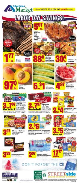 Albertsons Market Ad Grocery Deals Aug 28 Sep 3 2019