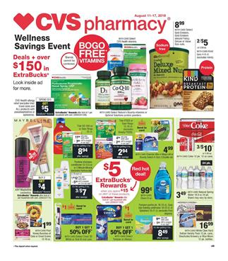 CVS Beauty ExtraBucks Rewards Weekly Ad Aug 11 17 2019