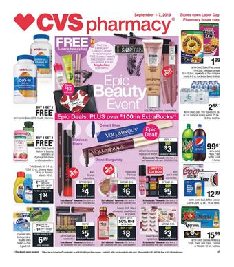 CVS Grocery Weekly Ad Products Sep 1 7 2019