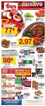 Frys Grocery Deals Aug 14 20 2019 Weekly Ad Sale