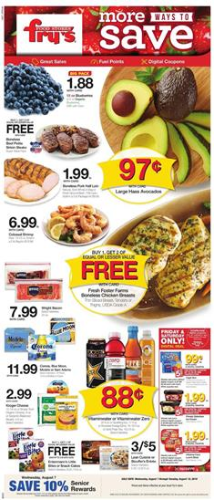 Frys Grocery Sale Weekly Ad Aug 7 13 2019