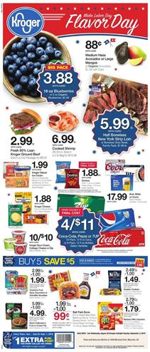 Kroger Labor Day Sale Weekly Ad Aug 28 Sep 3 2019