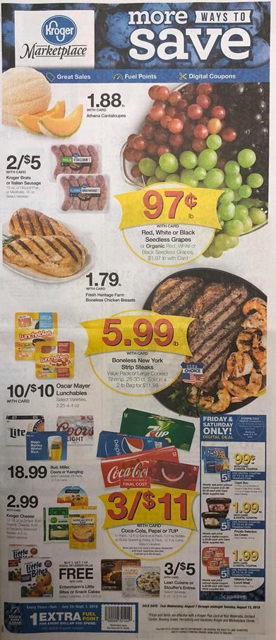 Kroger Weekly Ad Preview Aug 7 13 2019