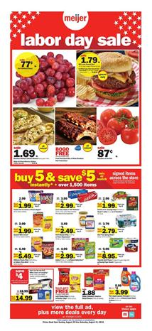 Meijer Sales Ad Grocery Range and Buy 5 Save 5 for Aug 25 31 2019