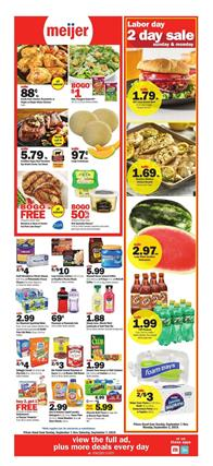 Meijer Weekly Ad Grocery Sale Sep 1 7 2019