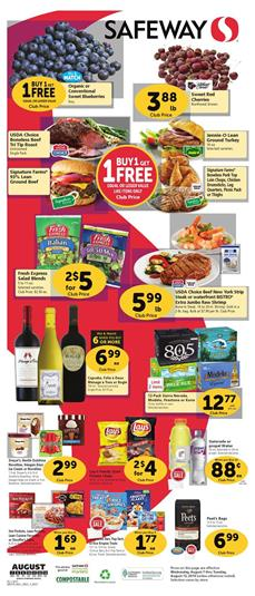 Safeway Grocery Sale Weekly Ad Aug 7 13 2019