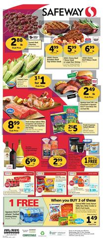 Safeway Weekly Ad Deals Jul 31 Aug 6 2019