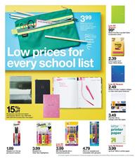 Target School Products Weekly Ad Sale Aug 18 24 2019