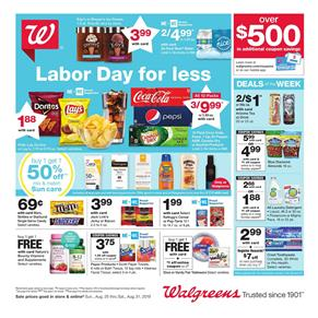 Walgreens Pharmacy Sale Weekly Ad Aug 25 31 2019