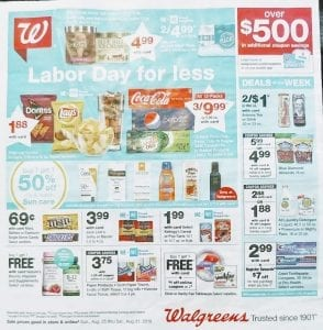 Walgreens Weekly Ad Preview Aug 25 31 2019
