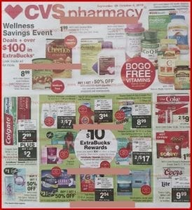 CVS Weekly Ad Preview Sep 29 Oct 5 2019