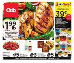 Cub Foods Weekly Ad Deals Sep 5 11 2019