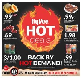 Hy Vee Weekly Ad Hot Deals Sep 25 Oct 1 2019
