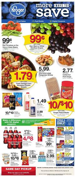 Kroger 5x Digital Coupons Weekly Ad Sep 4 10 2019