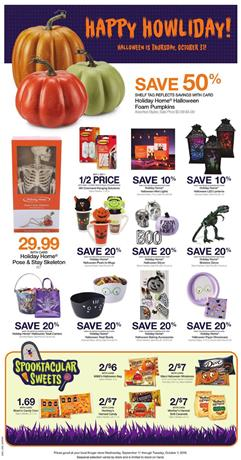 Kroger Halloween Weekly Ad Sale Sep 18 24 2019