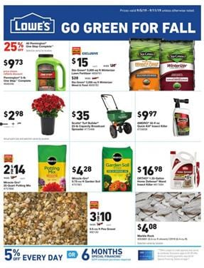 Lowes Gardening Products Weekly Ad Sale Sep 2019
