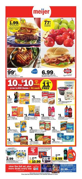 Meijer 10 for 10 Sale Weekly Ad Products Sep 8 14 2019