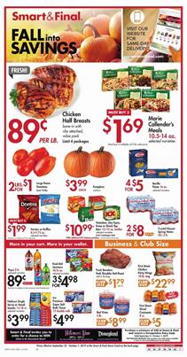 Smart and Final Ad Fall Deals Sep 2019