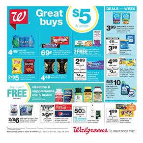 Walgreens Supermarket Deals Sep 22 28 2019 Weekly Ad