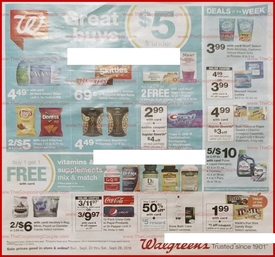 Walgreens Weekly Ad Sep 22 28 2019