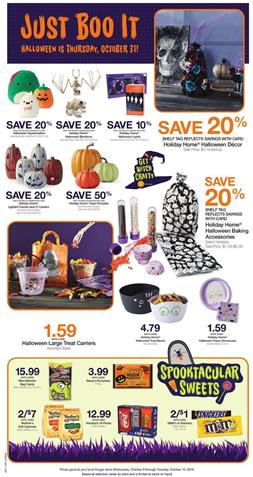 Kroger Holiday Home Halloween Products October 2019