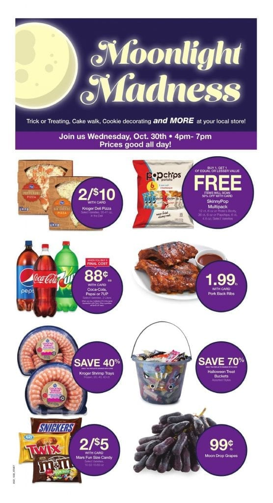 Kroger Moonlight Madness Ad Oct 30 2019