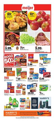 Meijer Weekly Ad Deals Oct 20 26 2019