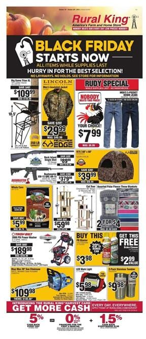 Rural King Black Friday Ad Oct 2019