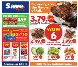 Save A Lot Weekly Ad Meat Sale Oct 2 8 2019