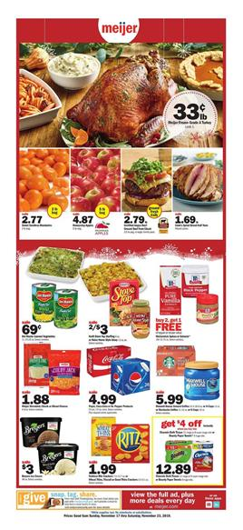 Meijer Thanksgiving Turkey Deal Nov 17 23 2019