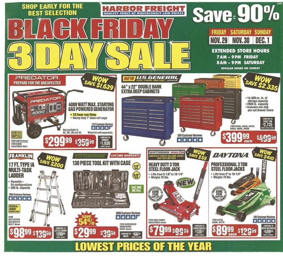 Harbor Freight Black Friday Ad