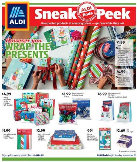 ALDI Ad In-Store Nov 24 - 30, 2019