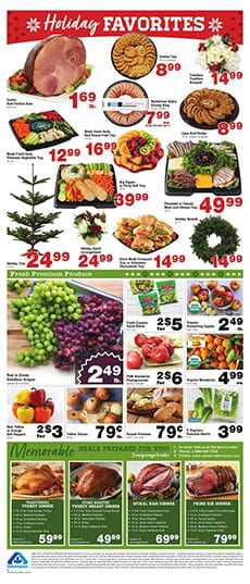 Albertsons Holiday Food Sale and Dinner Ideas Dec 4 - 10