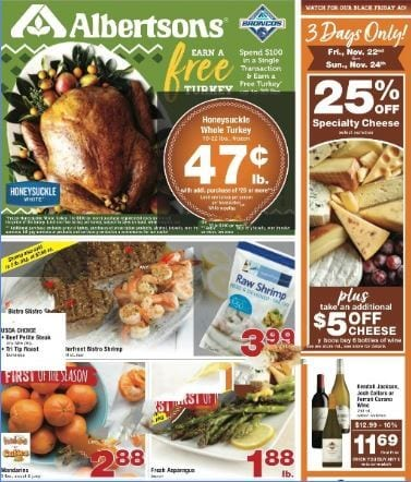 Albertsons Weekly Ad Nov 20 - 28, 2019