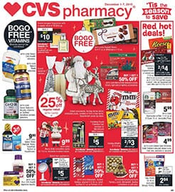 CVS BOGO Free Holiday Deals Dec 1 - 7, 2019